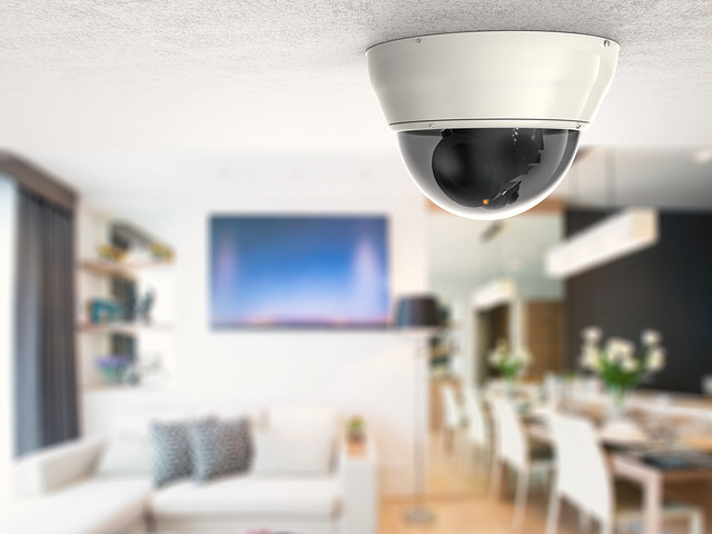 Home CCTV system by Phonlamai Photo.