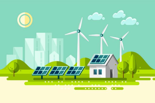 Solar panels image by Faber14 (via Shutterstock).